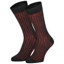 Socken Protorio Rot/Schwarz Streifen