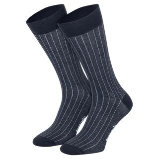 Socken Protorio Navy/Blau Streifen