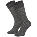 Socken Protorio Grau/Grün Streifen